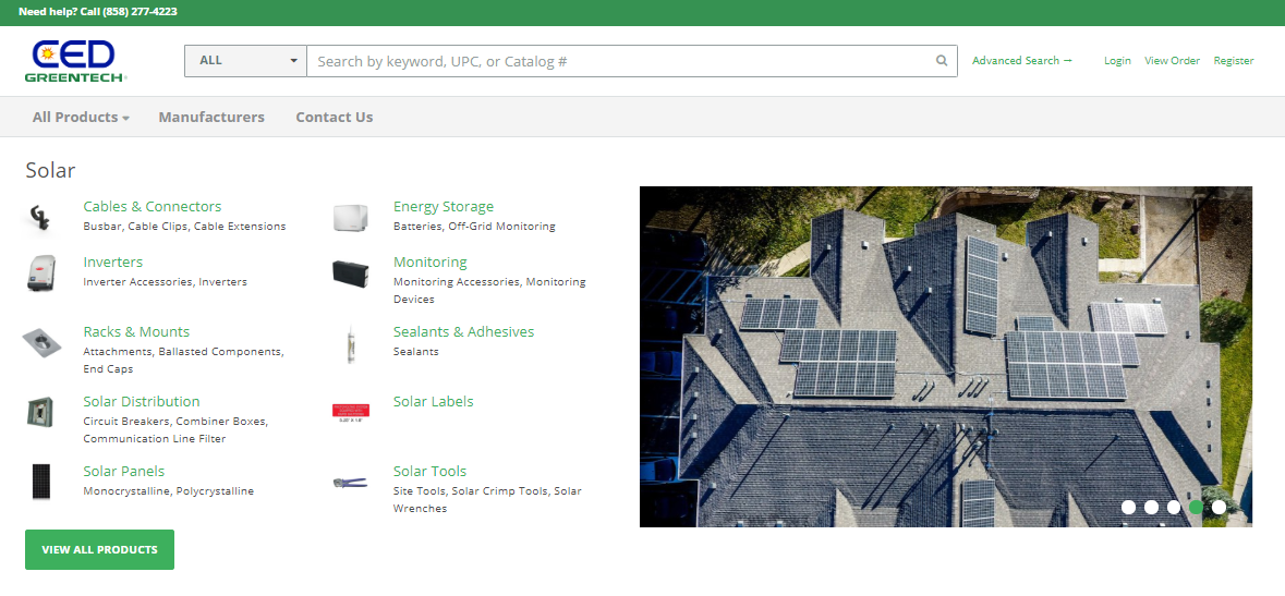 Local CED Greentech Customer Portal Homepage