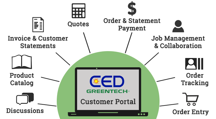 CED Greentech Customer Portal Features!