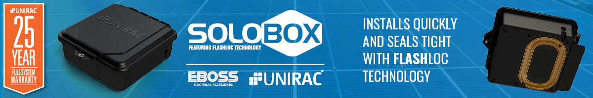 UNIRAC SOLOBOX: Installs quickly and seals tight with FLASHLOC technology!
