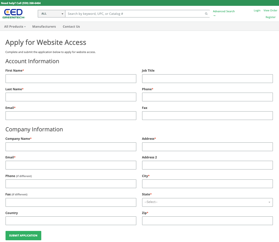 CED Greentech Customer Portal Website Access Request Form!