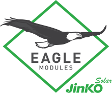 Eagle Modules + Jinko Solar logo