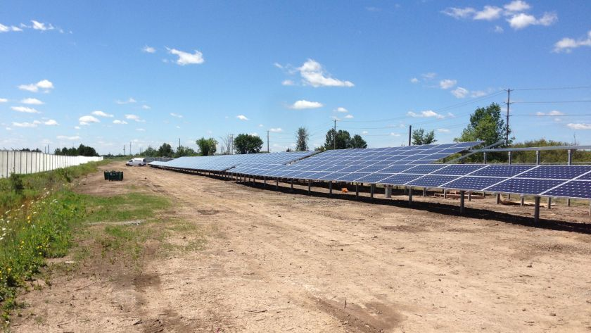 Getting close to completion Ontario, Canada Solar Park