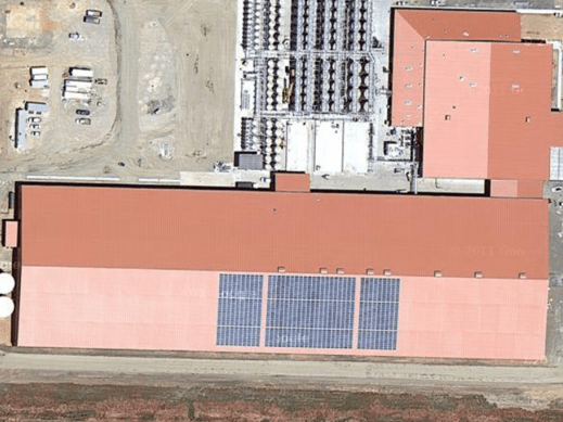 Satellite view of the completed installation