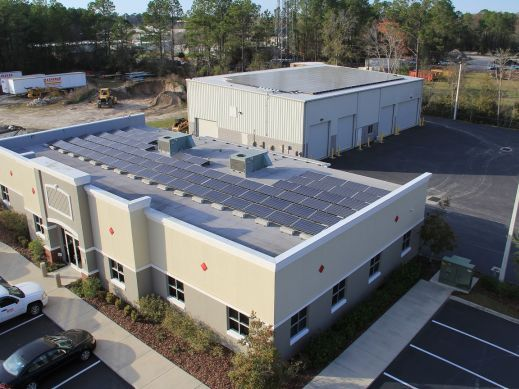 73.75 kW Gainesville, FL Flat Roof Solar Array