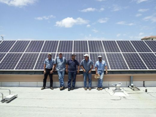 A1A Solar Neptune Beach FL City Hall Solar Install Team