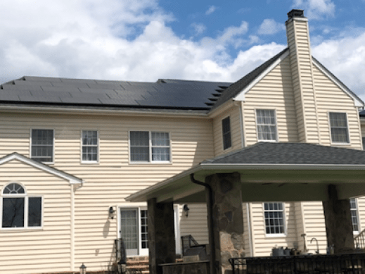 Solar on residential home