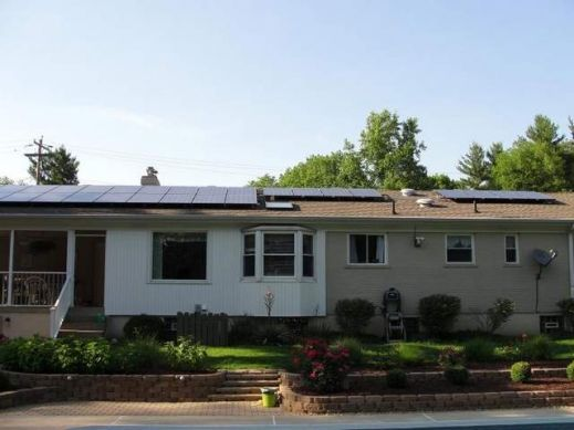 The complete solar array of the Dearth Residence