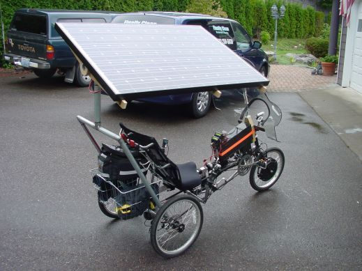 Off Grid Solar Bike and Solar Canoe