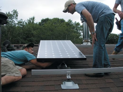 Mounting Solar Panels on Shingle roof 1