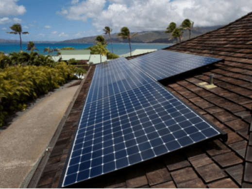 Image of a Hawaiian solar project