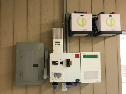Schneider Electric / Simpliphi Power Li-ion (LiFePO4) off-grid installation by Casey Electric.